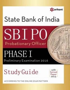 Arihant SBI PO Phase-I Preliminary Examination Study Guide 2016
