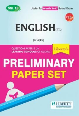 Liberty Std. 10 English (FL) Preliminary Paper Set (Latest Edition)
