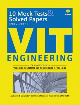 Arihant 10 Mock Tests & Solved Papers (2007-2016) for VIT Engineering