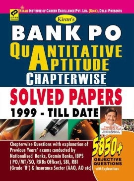 Kiran  Bank Po Quantitative Aptitude Chapterwise Solved Papers 1999-Till Date 5850+Objective Question