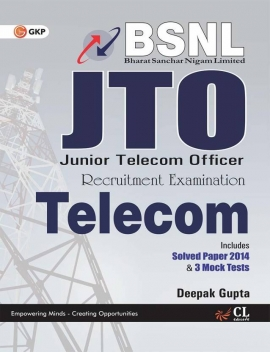 BSNL J.T.O (TELECOM) INCLUDES SOLVED PAPER 2014 & 3 MOCK TESTS