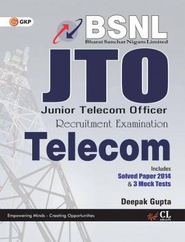 BSNL J.T.O (TELECOM) INCLUDES SOLVED PAPER 2014 & 3 MOCK TESTS