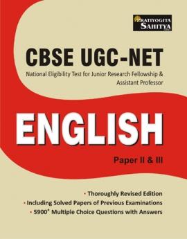 CBSE UGC NET ENGLISH PAPER II & III