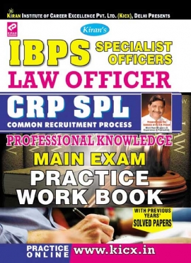 IBPS SO LAW Officer CRP SPL Professional Knowledge Main Exam Practice work Book