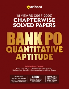 Arihant Bank PO Quantitative Aptitude Chapterwise Solved Papers