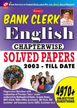 Kiran's Bank clerk English chapterwise solved papers 2003 – Till date