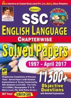 Kiran's SSC English Language Chapterwise Solved Papers 11300+ Objective Questions