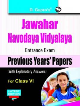 R Gupta Jawahar Navodaya Vidyalaya Entrance Exam Previous Year's Papers Class-VI
