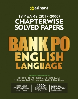 Arihant Bank PO English Language Chapterwise Solved Papers