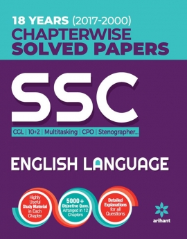 Ariaht SSC Chapterwise Solved Papers English Language 2018