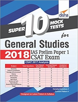 Disha IAS 10 Mock Teats GS Pre.Paper