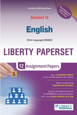 Liberty Std-10 English Assignment Paper Set for March 2020 Board Exam